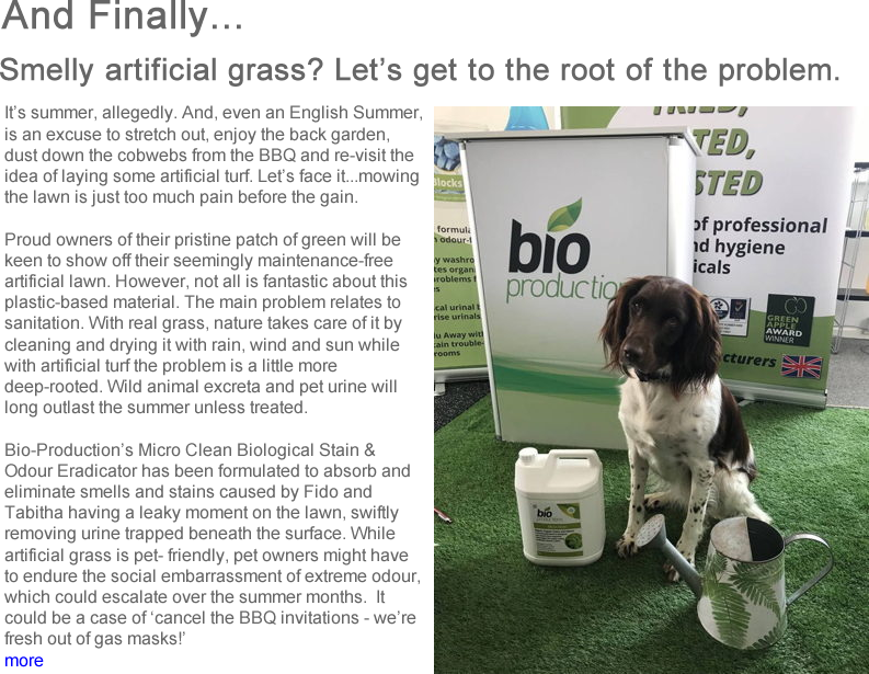 Advert: https://www.thecleanzine.com/pages/17736/smelly_artificial_grass_lets_get_to_the_root_of_the_problem/