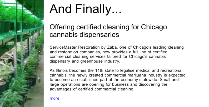 Advert: https://www.thecleanzine.com/pages/17889/offering_certified_cleaning_for_chicago_cannabis_dispensaries/