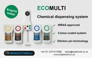 Advert: http://www.brightwell.co.uk/maintenance/ecomulti-standard-4-chemical-dispenser