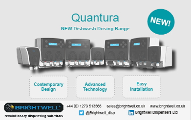 Advert: http://www.brightwell.co.uk/news/quantura-dishwash-dosing-systems-a-leap-forward-in-compact-technology