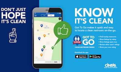 Cintas free 'Got to Go' app identifies and rates clean