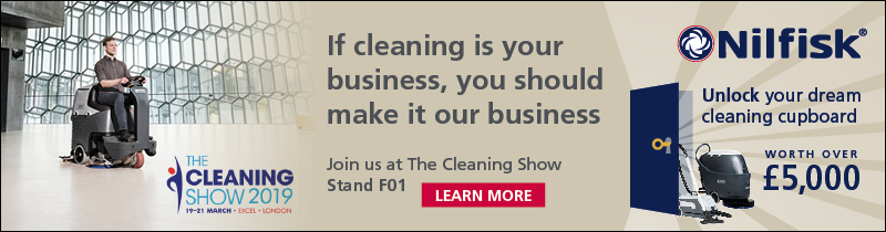 Advert: https://www.nilfisk.com/en-gb/campaigns/the-cleaning-show-2019/Pages/The-Cleaning-Show-2019.aspx?utm_campaign=Cleanzine%20_CleaningShow_Comp_Feb19&utm_source=Other&utm_medium=Banner&utm_content=Website
