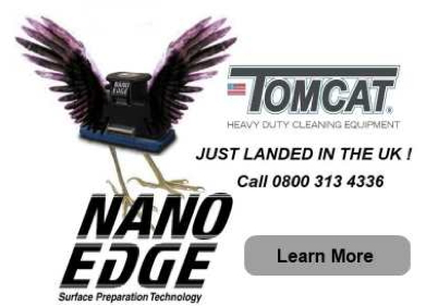 Advert: http://www.tomcat-uk.co.uk/models/nano-edge-compact-floor-scrubber/